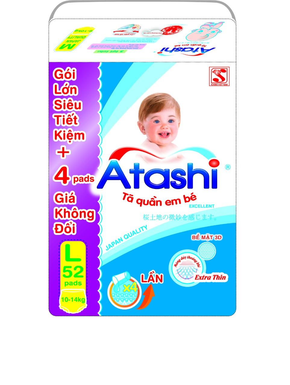 Tã (bỉm) quần Atashi gói siêu đại